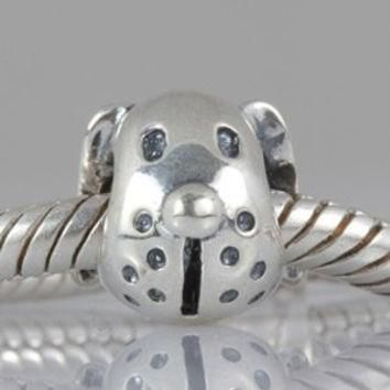 Boxer Puppy Dog Head 925 Sterling Silver Bead Fits Pandora Charm Bracelet