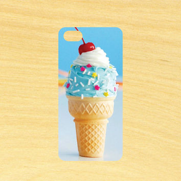 Ice Cream Cone iPhone 4/4S 5/5C 6/6+ and Samsung Galaxy S3/S4/S5 Phone Case