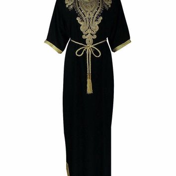 Elegant Islamic Long Jalabiya Dress