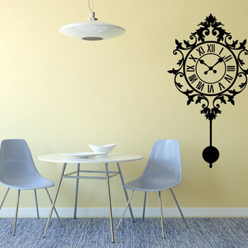 Detailed Gothic Clock LARGE Wall Decal Made To order Fast Production Shipping within 24 hours...Several Color Opt