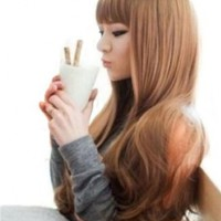 """Cool2day® Fancy 25"""" Long Wavy Healthy Hair Party Full Wig+wig Cap (Model: Jf010321) (Light Brown)"""