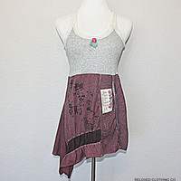 Juicy Couture Upcycled Lace Tank Top Women's Junior's Boho Chic Fashion Free Spirit Clothing