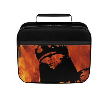 GFY Boys Beast Mode Orange Black Lunch Box