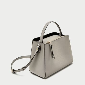 MIDI TOTE BAG WITH ZIP DETAILS
