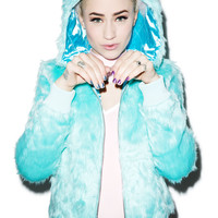 Sourpuss Clothing Yeti Kat Jacket Blue