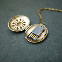 USB Locket by Emily Rothschild for  - Free Shipping