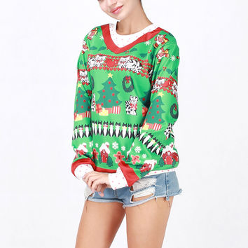 Hot Deal On Sale Winter Costume Cartoons Christmas Tops Santa Ugly Christmas Sweater [9475941636]