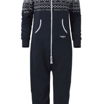 Onepiece Lusekofte Onesuit Navy Black Size Large