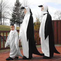 Halloween family affair penguin costume, teens/adults XS, S, M, L, Xl