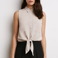 Tie-Front Pocket Shirt