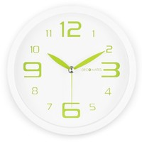 DecoMates Non-Ticking Silent Wall Clock - Fresh Mint (Green Spearmint)