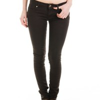 Cotton Cantina Juniors Skinny Jeans Bold Colors (11, Dark Chocolate)