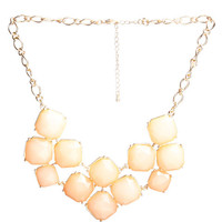 Cushion Cut Faceted Necklace