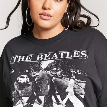Plus Size Beatles Band Tee