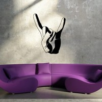 Wall Decal Sticker Horns Rock Club Music Hard Rock Hand Punk Band Sign V89
