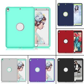 Onleny Case Cover For iPad Pro 10.5 inch Full Body Protective 3 Layers Soft Silicone High-Impact Shockproof Protecting Cover