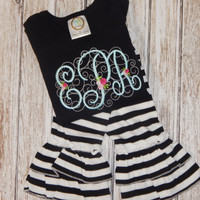 FALL Outfit; Girl's Fall outfit; Girl's Fall shirt; Girl's outfit; Black and White outfit; Girl's personalized shirt; Black Shirt