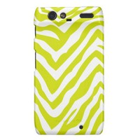 Lime Green Zebra Stripes Motorola Droid RAZR Case from Zazzle.com