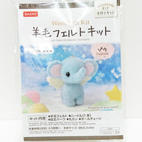 Needle Felting Kit Wool Felt DIY Kit for Handmade Baby Elephant Angel Doll
