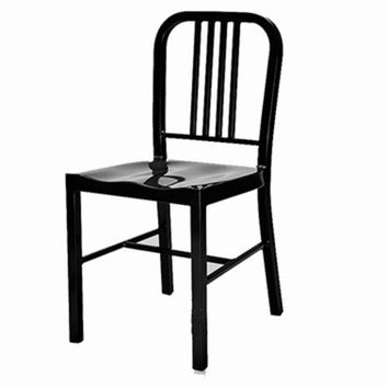 US Navy Dining Chair - Black - Reproduction |
