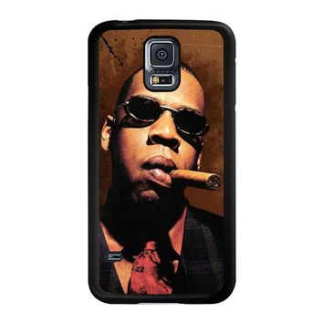 Jay-Z Cigar Glasses Tie Vest 01  Samsung Galaxy S5 Case