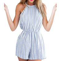 Women Summer Backless Romper