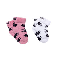 HUF - BABY SEED SOCKS 2-PACK SP15 // MAGENTA HEATHER / NAVY