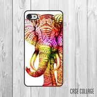 Multicolor Elephant iPhone Case 7048 by CaseCollage on Zibbet