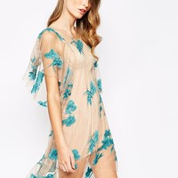 For Love and Lemons Orchid Mini Dress