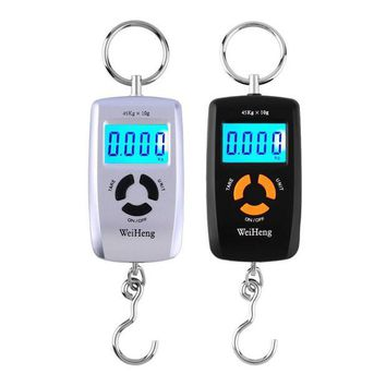 DCCK1IN wh a05l lcd portable digital electronic scale pocket 45kg 10g luggage hanging fishing hook balance scale electronic lb oz kg new
