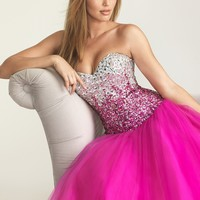 Night Moves 6600 Fuchsia Ball Gown