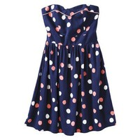 Target : Xhilaration® Juniors Strapless Zip Back Fit and Flare Dress - Assorted Colors : Image Zoom