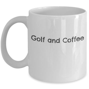 Golf and Coffee Mug
