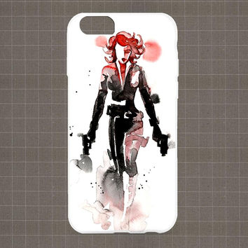 Marvel Heroes Watercolor FEMALE iPhone 4/4S, 5/5S, 5C Series Hard Plastic Case