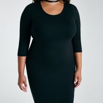 Plus Size Soft Knit Bodycon Dress | Wet Seal Plus