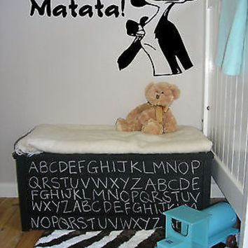 Wall Vinyl Sticker Decals Art Mural Hakuna Matata Words AL436