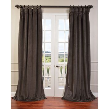 Flores Solid Max Blackout Thermal Rod Pocket Single Curtain Panel