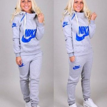 ONETOW Nike' Casual Hoodie Sweater Pants Trousers Set Two-Piece