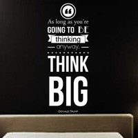 Donald Trump Quote Removable Wall Decal