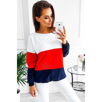 Leisure Round Neck Long-Sleeved Sweater