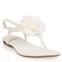t-strap sandal with chiffon flower top - 1000048153 - debshops.com