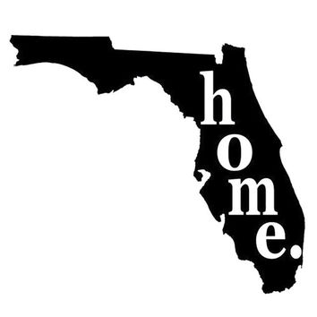 State of Florida Vinyl Car Decal