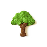 Tree Magnet - Polymer Clay Magnets - Green Tree Magnet - Nature Magnet - Plant Magnet - Cute Magnet - Green Magnet - Kitchen Magnet