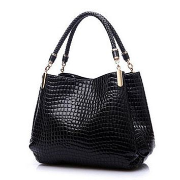 Annie Faux Alligator Skin Womens Fashion Handbag