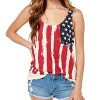 Get 2-Pieces American Flag Tank Top USA Patriotic Women's Sexy Biker Vest Tees:Amazon:Clothing