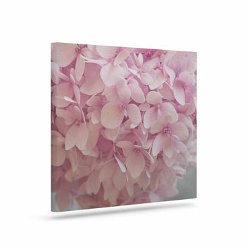"Suzanne Harford ""Pastel Pink Hydrangea Flowers"" Pink Floral Canvas Art"