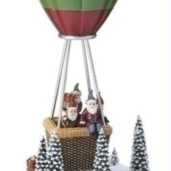 "Hot-air Balloon Elves - Santa's Elves Go Up And Down In Their Hot Air Balloon As The Song  "" We Wish You A Merry Christmas ""  Plays"