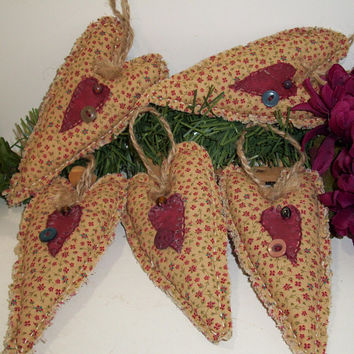 Primitive Handmade Fabric Hearts, Valentines Day, Bowl Fillers, Cabin Decor, Cottage Decor, Country Cecor, Home and Living, Home Decor