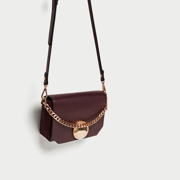 CROSSBODY BAG WITH FASTENER DETAIL DETAILS