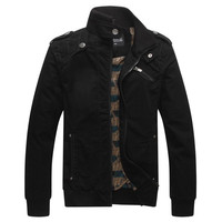 Men's Fashion Casual Winter Jacket Cotton Stand Collar Coat